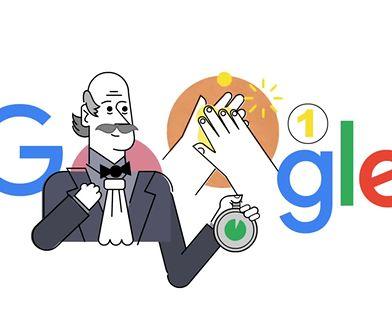 Ignaz Semmelweis bohaterem Google Doodle. Historyczna postać pokazuje jak myć ręce