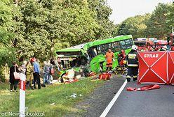 Dramatyczny wypadek pod Zieloną Górą. Jedna osoba zmarła. Ponad 50 jest rannych