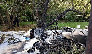 Samolot spadł na teren ogródka działkowego w Łodzi