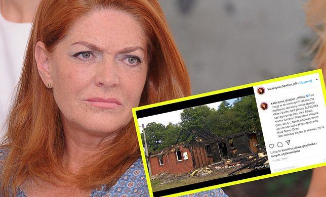 Katarzyna Dowbor napisała, kto kryje się za podpaleniem domu samotnej matki