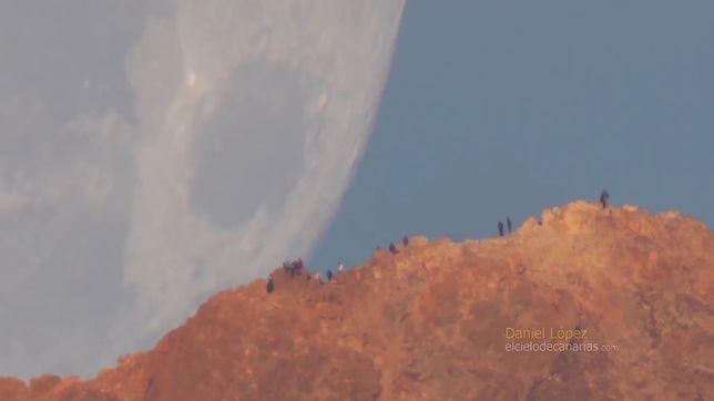 Daniel Lopez nagrywając Księżyc znajdował się ok. 16 km od stożka wulkanu Tede