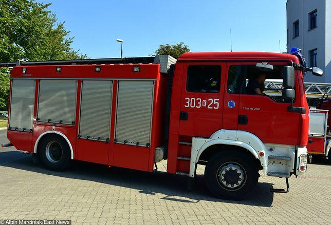 Tragiczny wypadek pod Warszawą. Straż pożarna potrąciła mężczyznę