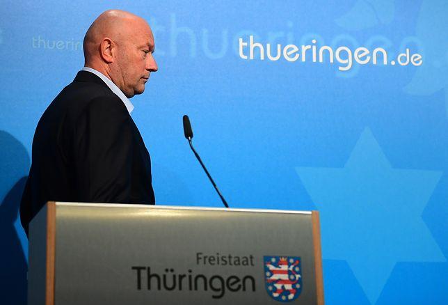 Rządził 25 godzin. Premier Turyngii Thomas Kemmerich rezygnuje ze stanowiska