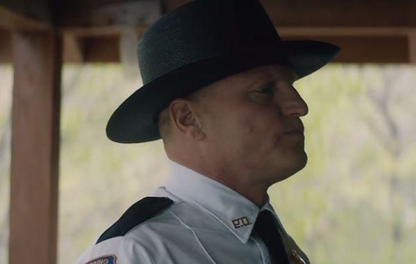 """Woody Harrelson jako szeryf Bill Willoughby w """"Trzy billboardy za Ebbing, Missouri"""""""