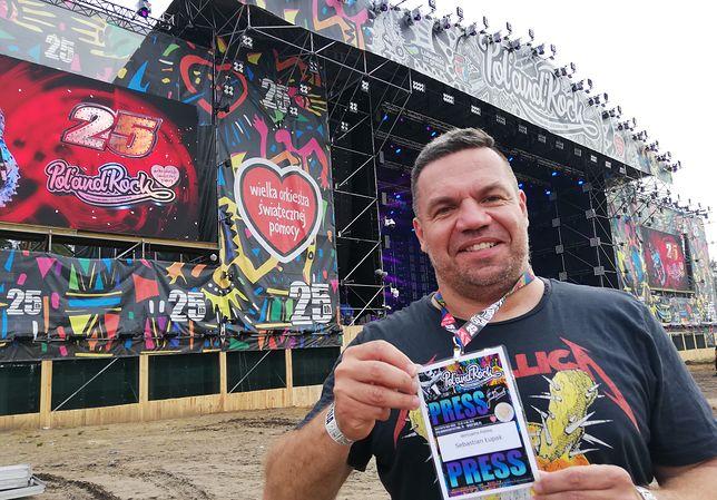 Dziennikarz Sebastian Łupak na Pol'and'Rock Festival