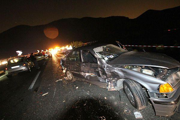 Jedno z pierwszych zdjęć z miejsca wypadku