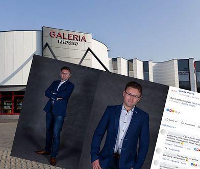 Mężczyzna startował w konkursie na twarz galerii w Krośnie