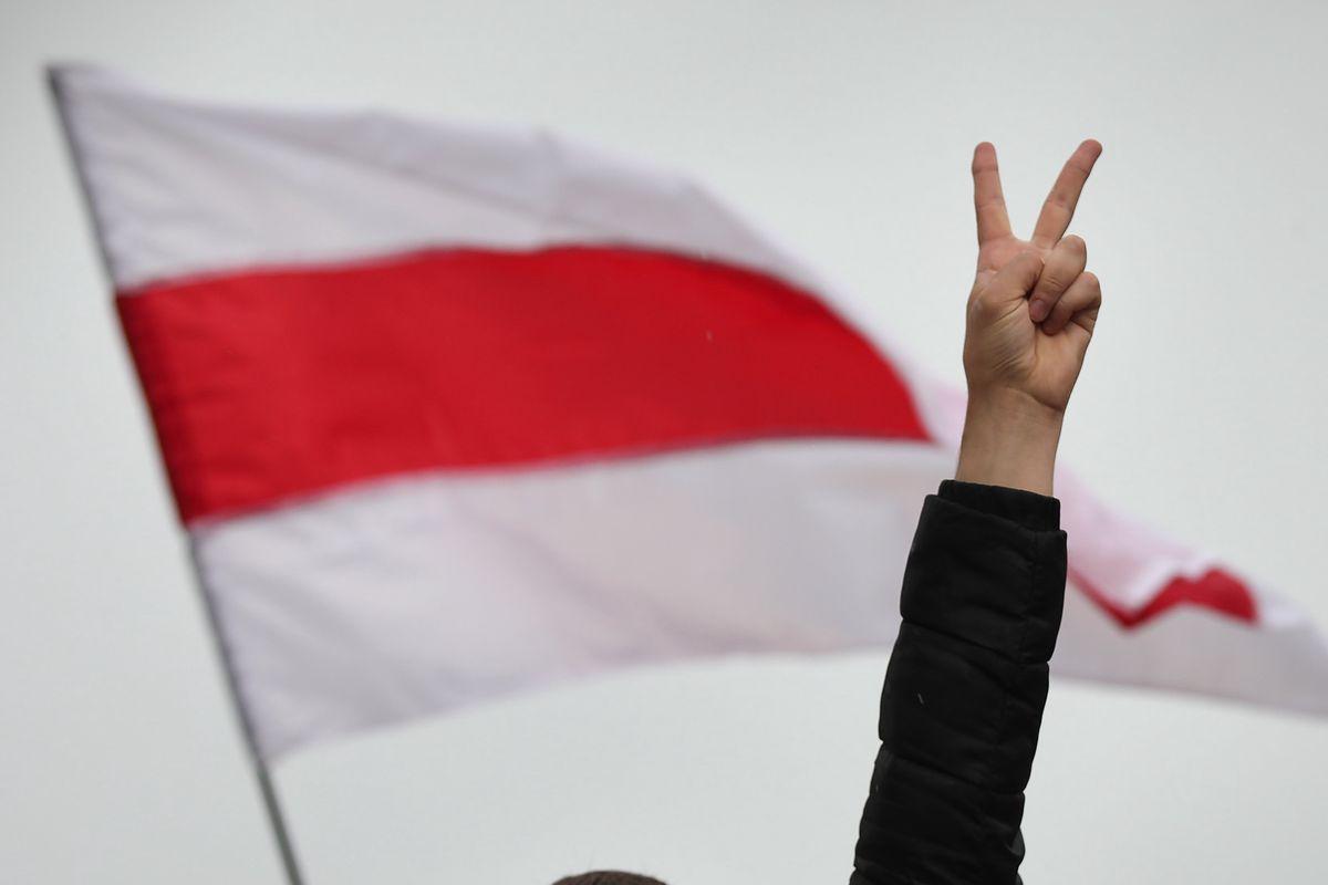 Warszawa. Marsz solidarności z Białorusinami(Fot: Fot. Jakub Włodek / Agencja Gazeta)