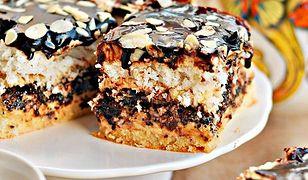 Ciasto makowe z kokosem i czekoladą