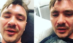 Daniel Martyniuk zalany łzami wygłasza tyradę na kanapie
