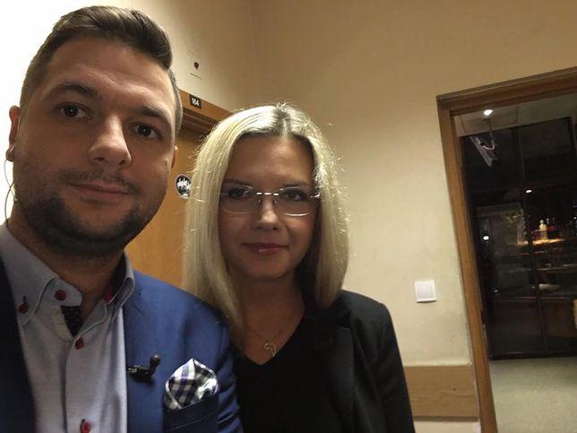 Patryk Jaki i Małgorzata Wassermann w TVP Info