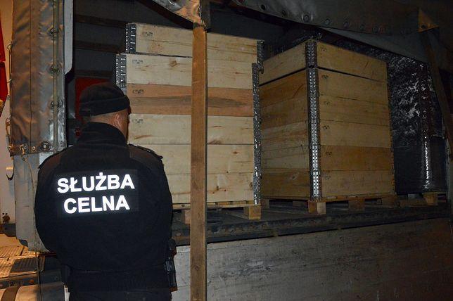 Kontrola ciężarówki z Łotwy