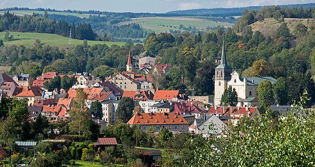 Centrum miejscowości uzdrowiskowej Duszniki-Zdrój