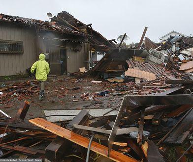 Tajfun Hagibis uderzył w Japonię. Zniszczenia w mieście Ichihara, w prefekturze Chiba