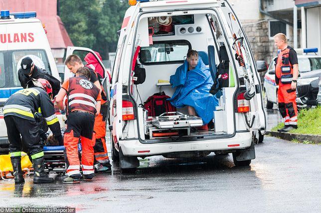 Tatry. Transport rannych do szpitala