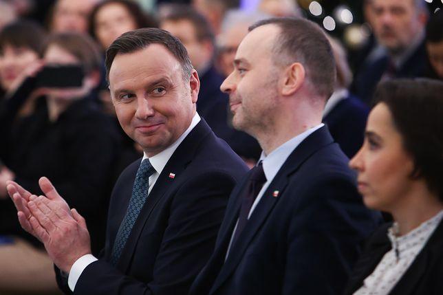 Prezydent Andrzej Duda i wiceszef jego kancelarii Paweł Mucha