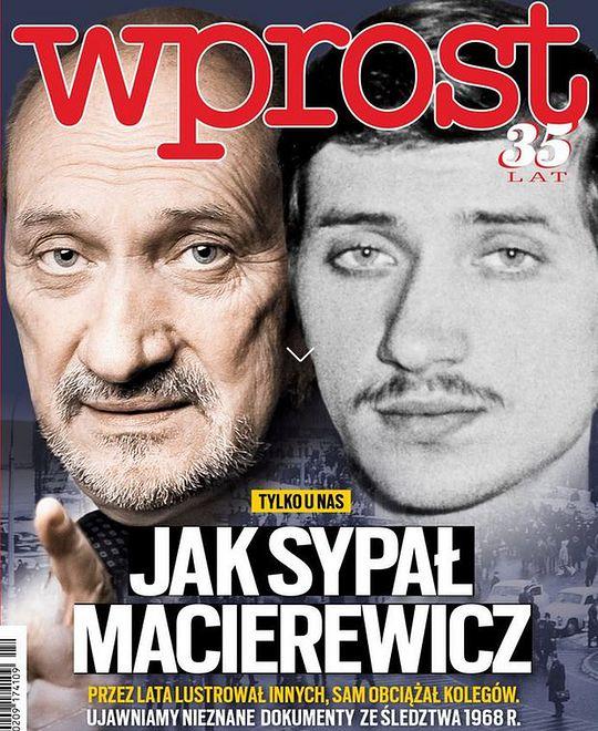 """Okładki tygodników. """"Wprost"""" o Macierewiczu-lustratorze, """"Newsweek"""" o droższym paliwie"""
