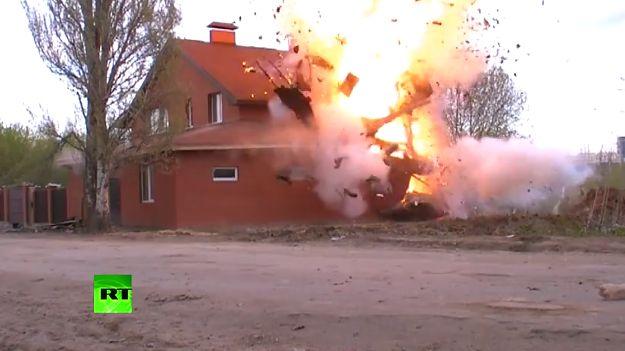 Rosyjskie służby wysadziły nielegalny, muzułmański dom modlitwy