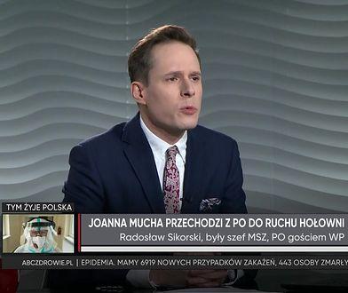 Joanna Mucha wybrała Szymona Hołownię. Radosław Sikorski komentuje