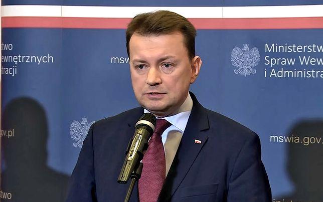 Mariusz Błaszczak, szef MSWiA