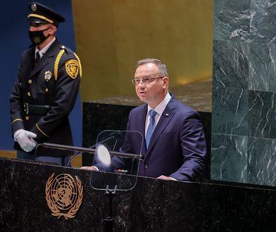 """Wpadka Dudy na sesji ONZ. Mówił o """"administracji prezydenta Donalda Trumpa"""""""