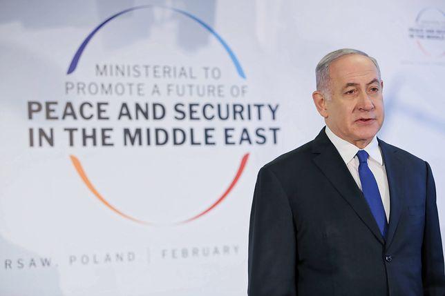 Premier Izraela Benjamin Netanjahu podczas konferencji bliskowschodniej w Warszawie, 14.02.2019 r.