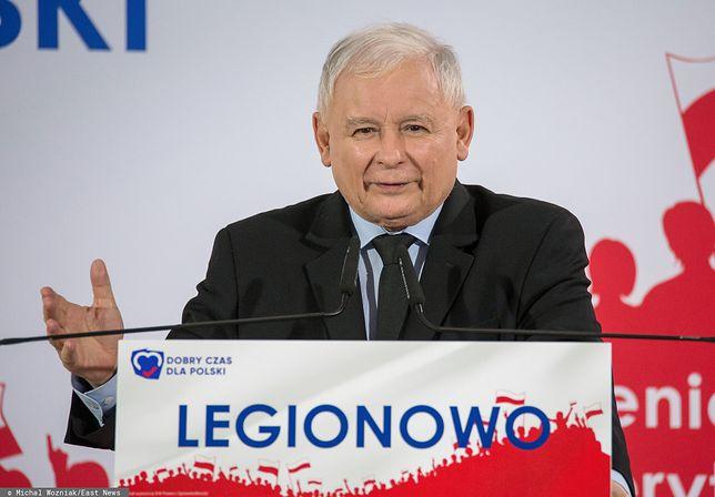 Wybory parlamentarne 2019. Prezes PiS Jarosław Kaczyński (zdj. arch.)