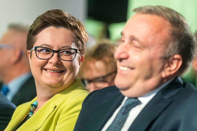 Katarzyna Lubnauer i Grzegorz Schetyna. Nawet fuzja PO i .N nie zmieni jednak znacząco połączonych notowań obu partii