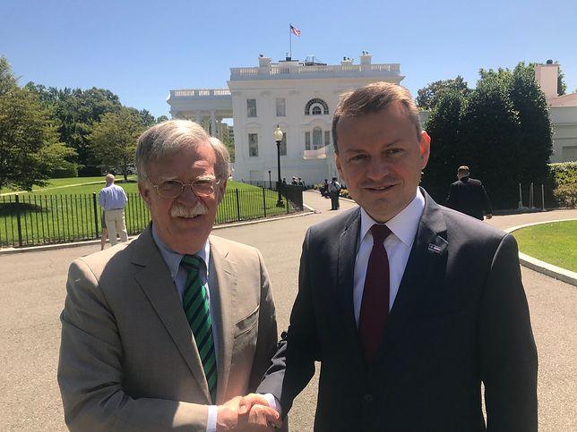 John Bolton i Mariusz Błaszczak