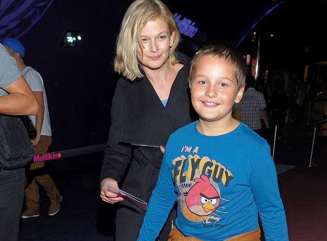 Hubert Zduniak z mamą w 2012 roku