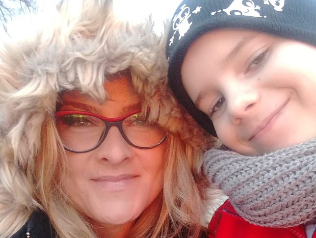 Kornelia i jej 9-letni syn, Jaś