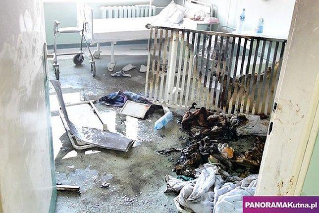 Szpital Samorządowy w Kutnie (woj. łódzkie). Pożar wybuchł na jednej z sal.