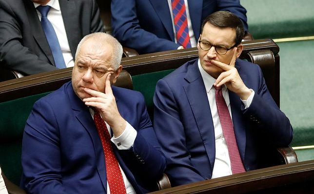 Jacek Sasin, minister aktywów państwowych i premier Mateusz Morawiecki