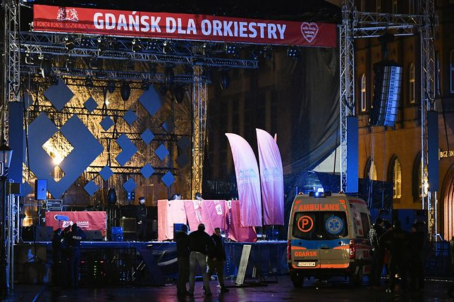 Scena WOŚP w Gdańsku opustoszała