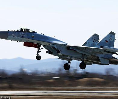 Jednym z przechwyconych samolotów był myśliwiec Su-35