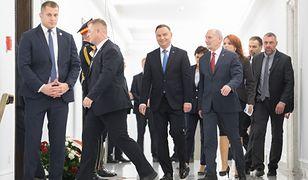 Andrzej Duda i Antoni Macierewicz w Sejmie.