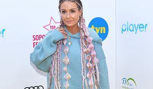 Małgorzata Rozenek pojawiła się na Top of the Top Sopot Festival w nietypowej stylizacji.