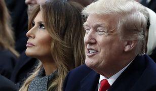Donald Trump z żoną podczas niedawnej wizyty we Francji