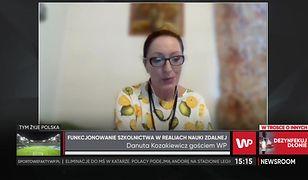 """Dyrektor Danuta Kozakiewicz mówi o nastrojach uczniów. """"Jest mi ich naprawdę szkoda"""""""