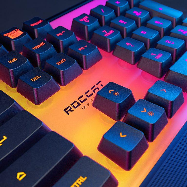 Przedefiniuj z nami świat gamingu, dzięki membranowym mechanicznym klawiaturom Roccat Pyro i poznaj zalety spektakularnego oświetlenia RGB w Roccat Magma! - Roccat Magma