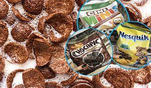 Popularne płatki śniadaniowe zawierają kilka łyżeczek cukru w 100 g.