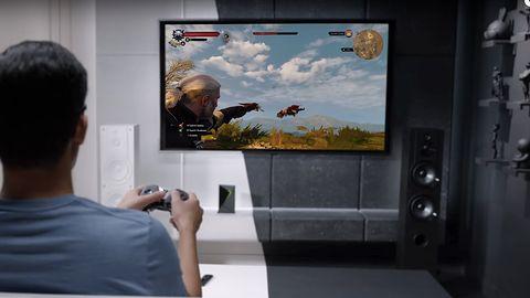 NVIDIA SHIELD TV ze strumieniowaniem gier w 4K i mikrofonami Spot #CES2017
