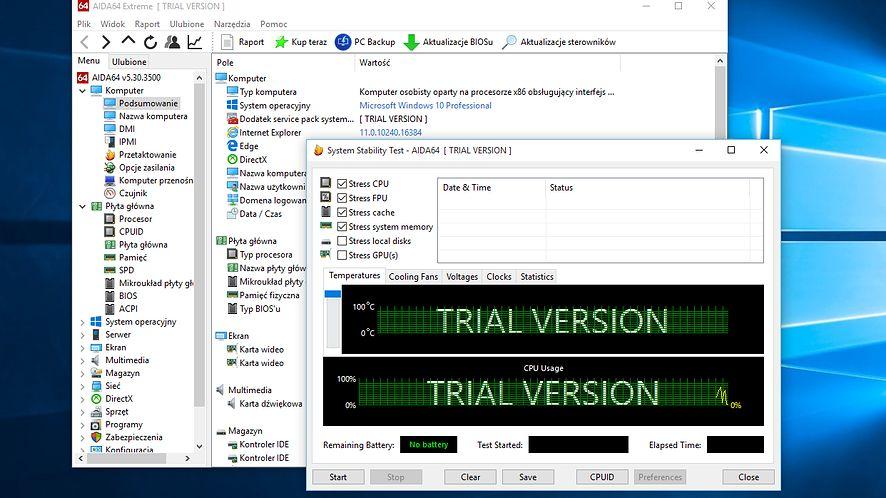 AIDA64 5.30: wsparcie dla Windows 10, nowych SSD, procesorów i kart graficznych
