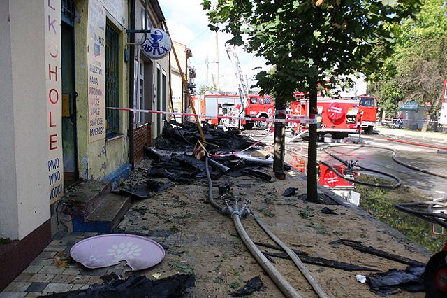 Dziewięć sklepów spłonęło w centrum miasta - zdjęcia