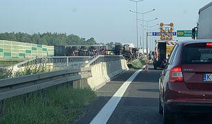 Wypadek na A4 w Gliwicach. Zablokowana autostrada w pobliżu Gliwic