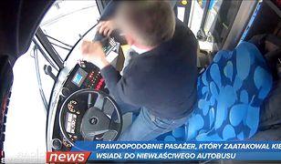 Zaskoczony kierowca autobusu odparł atak