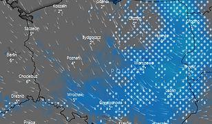 Strefa opadów śniegu z deszczem utrzyma się nad Polską do wtorku wieczorem