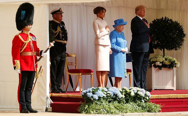 Prezydent USA na dworze królewskim