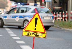 Warszawa. Zderzenie na S8 dwóch samochodów i ciężarówki