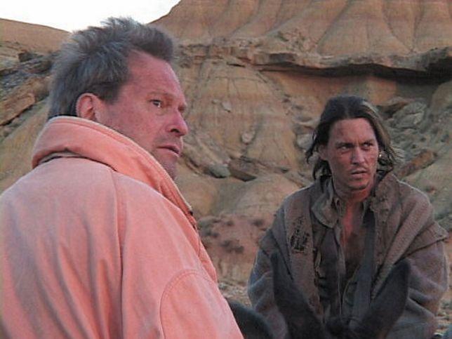 """Terry Gilliam i Johnny Depp, kadr z filmu """"Zagubiony w La Manchy"""""""
